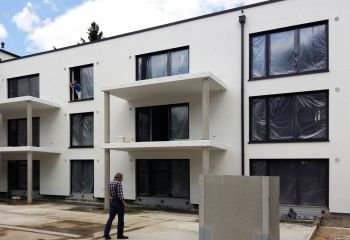 Wohnbauprojekt in Augsburg in Fertigbauweise